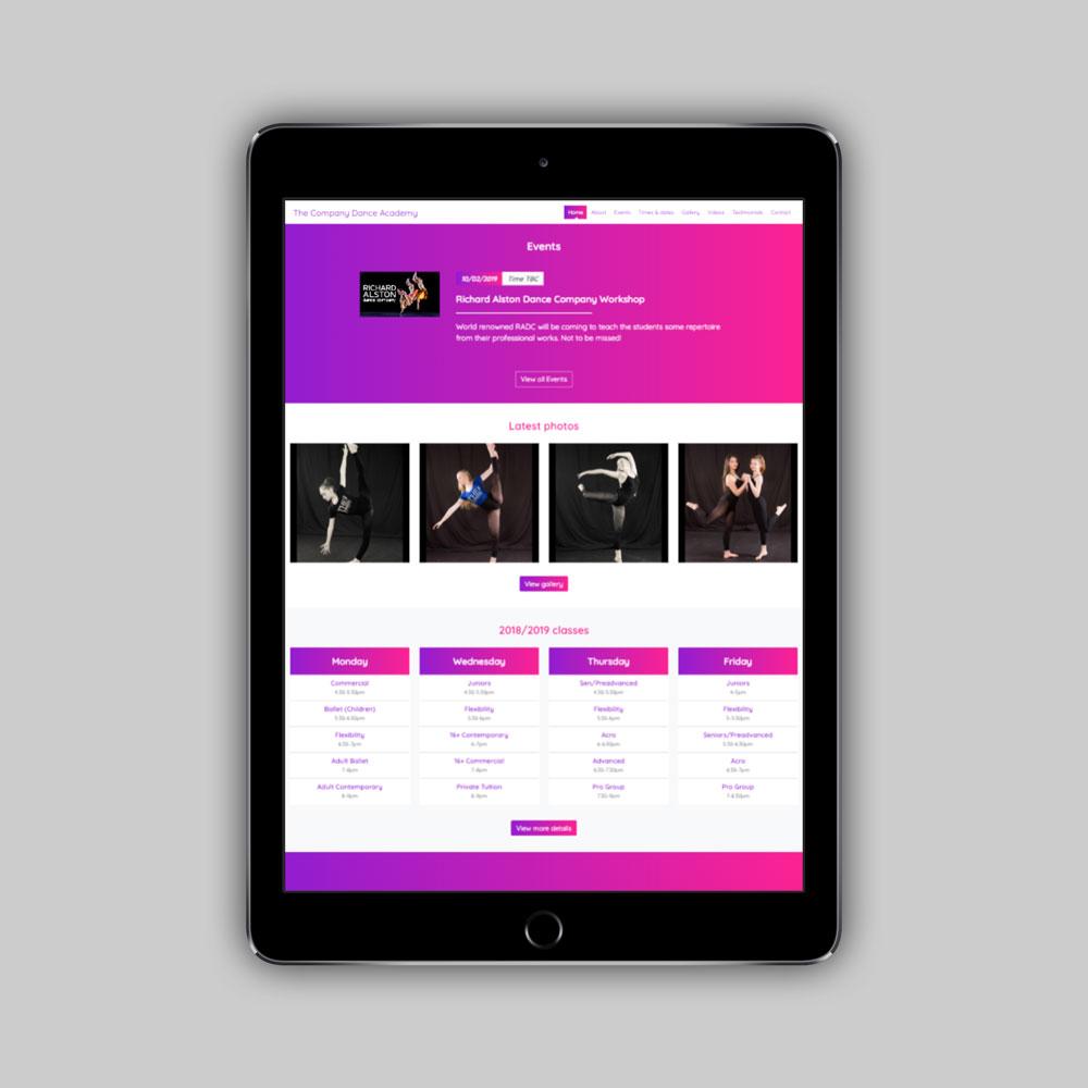 The Company Dance Academy website