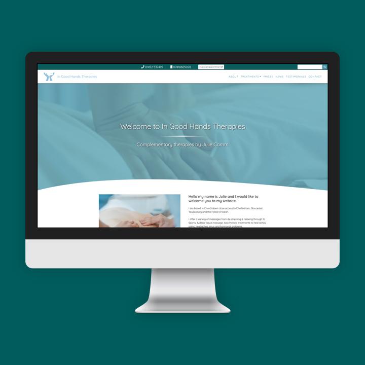 In Good Hands Therapies website screenshot