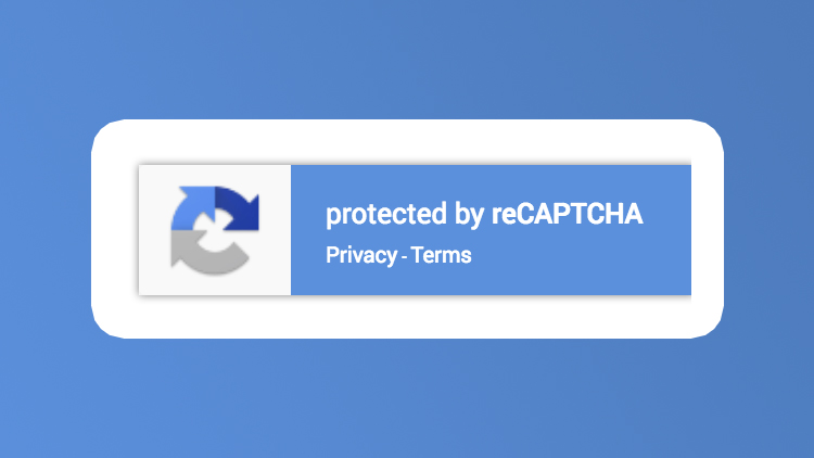 Google reCAPTCHA badge
