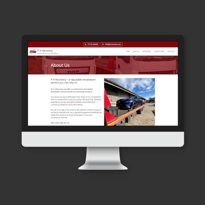 P H Recovery website screenshot