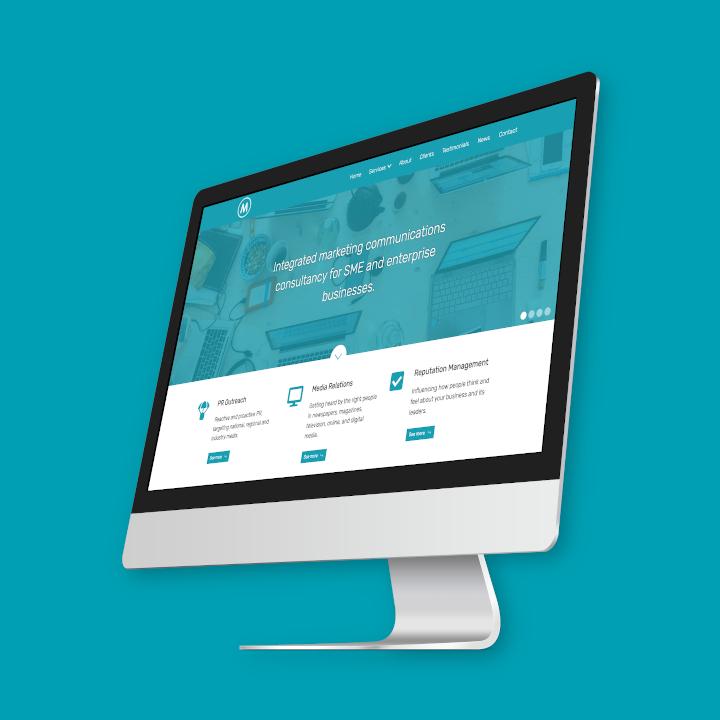 Marrinan PR and Comms website screenshot