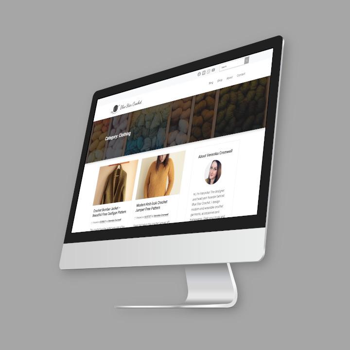 Blue Star Crochet Company website screenshot