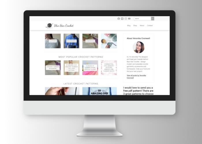 Blue Star Crochet Company website